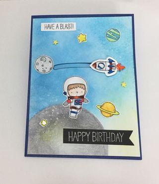 Handmade-Slider Birthday Card