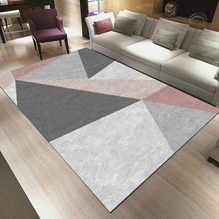 #MRTYishun Abstract Pink-Greyish Carpet