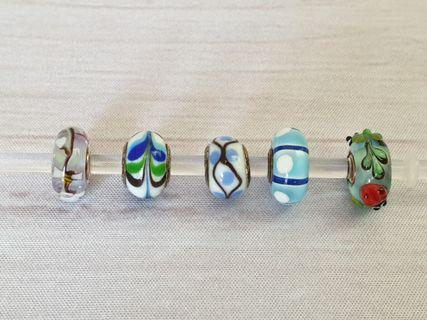 925 Sterling Silver Murano Glass Charms fits Pandora Trollbeads #endgameyourexcess