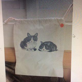 🚚 全新貓咪束口袋