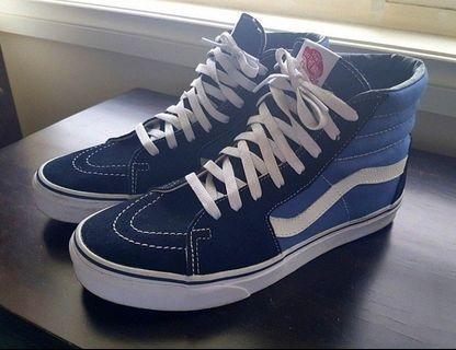 Vans SK8-HI Shoes Black Blue