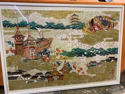 Bought in Japan, Japanese print with frame