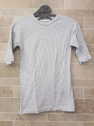 Indibrand striped top in black & white