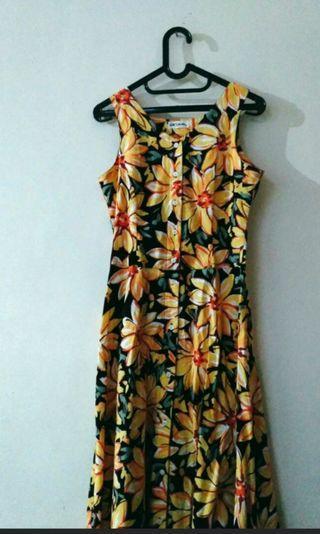 Floral summer button dress bukan zara bershka stradivarius h&m