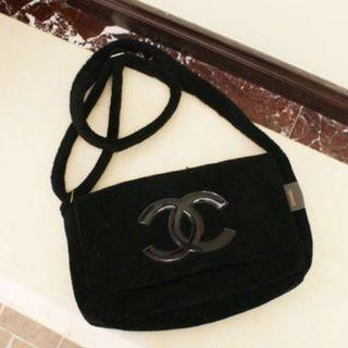Instock! CC Precison Fur Flap Cover Crossbody Messenger Sling Bag (Black with Black Logo) PO 111700203 *GWP* + FREE Post!