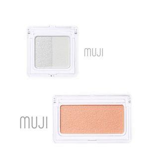 兩樣/Muji 全新未拆封 眼影 打底 橘色 腮紅 兩件組