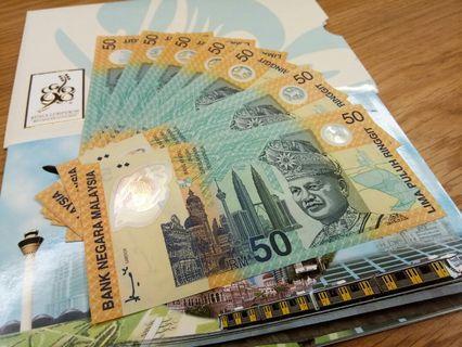 Malaysia 1998 Sukom 50 Rinnggit RM50 Commemorative Note