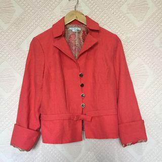 ICE RED ORANGE BLAZER SMALL