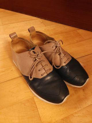 優質全真皮歐洲休閒鞋