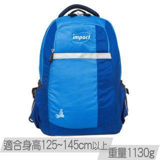 🚚 【IMPACT】怡寶調整型護脊書包-天才系列-藍色