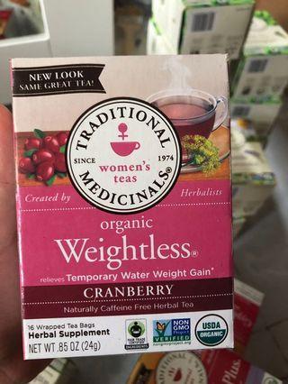 Traditional Medicinals 有機女性排水瘦身茶減肥茶 Weightless