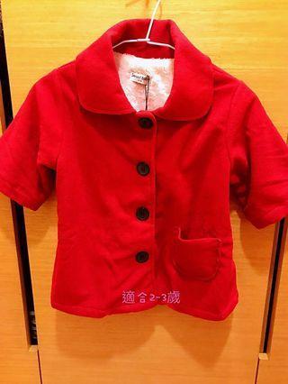 全新女童外套,適合2-3歲