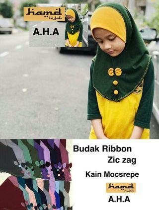 Borong Budak Ribbon Zic Zag 10pcs