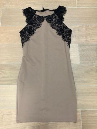 Forever 21 brown lace dress