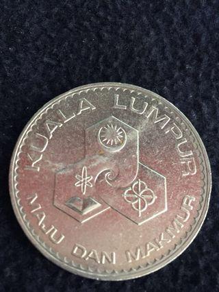 RM1 coin 1972 Bandaraya KL