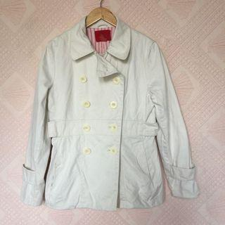 MOSSIMO CREAM COAT BLAZER LARGE