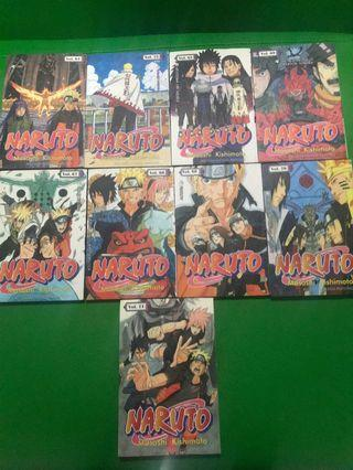 "Buku komik""Naruto""9pcs"