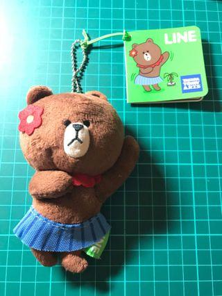 Line Friends Brown 熊大公仔掛飾