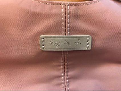 Agnes b粉紅色手袋