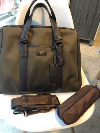 BRAUN BUFFEL large shoulder bag / laptop business bag
