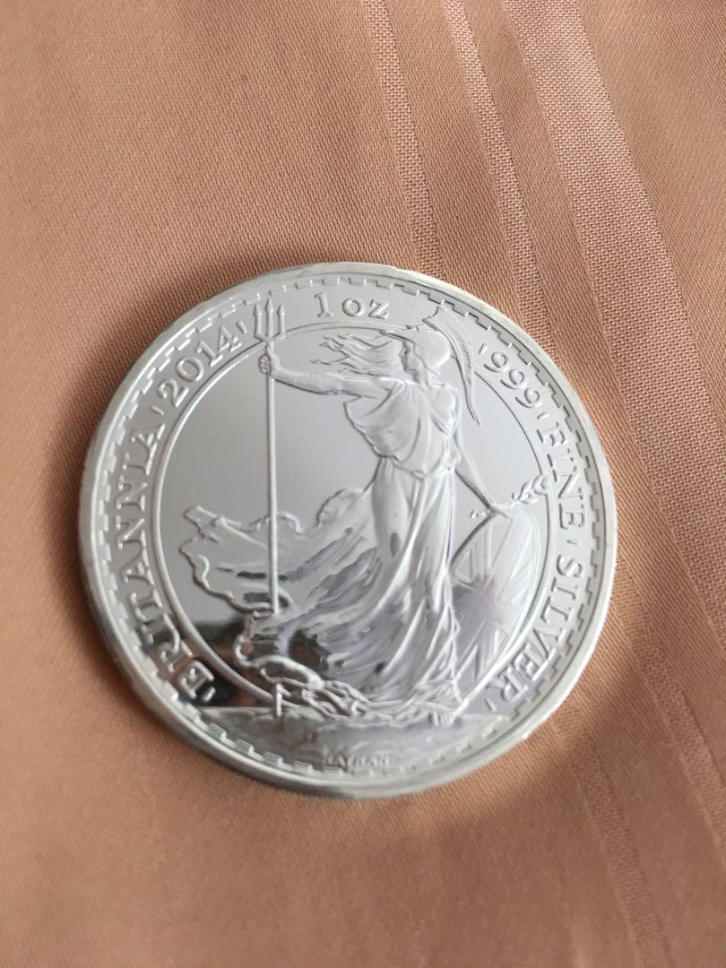 2017 Britannia 1 Oz Silver Coins