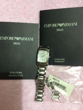 EMPORIO  ARMANI 真鑽鋼錶