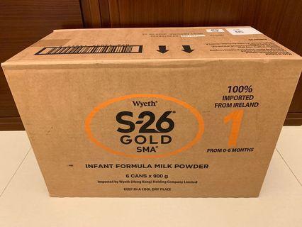 惠氏S26 s-26 gold 1 900g 奶粉 平衡車 美贊臣 尿片 marries 能恩 奶嘴 bb床