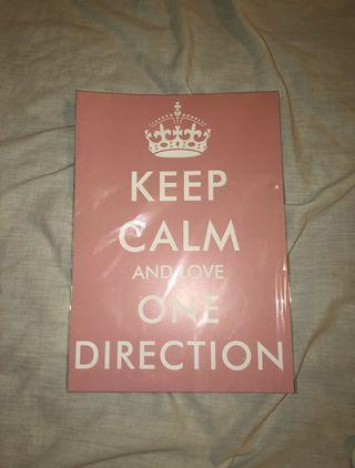 Keep calm and love one direction small poster