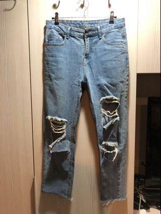 牛仔褲破褲