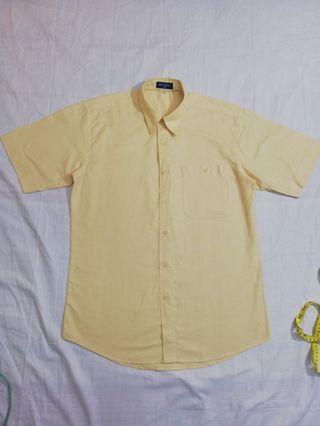 Ngu古著  素面棉質短袖襯衫