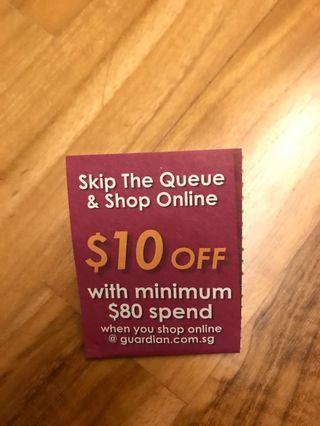 🚚 Guardian voucher for online