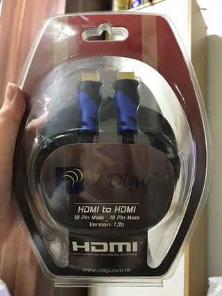 V digi hdmi to hdmi 19 pin male version 1.3b 電線