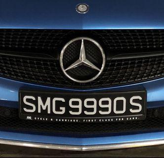 Bidded Car Plate Number  SMG9990S