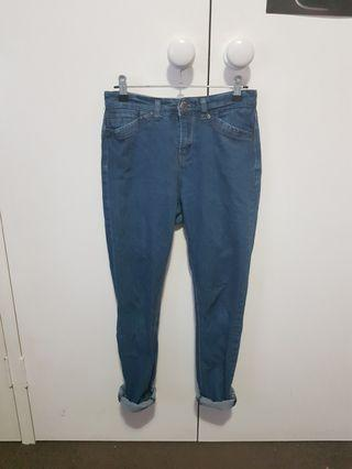High Rise Blue Jeans