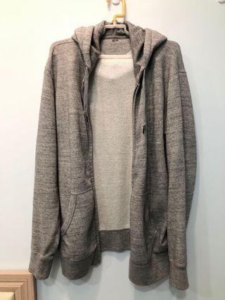 🚚 Uniqlo uq 灰色 棉 外套