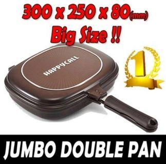 Mothers' Day Gift: BNIB AUTHENTIC Happy Call Double Pan (Jumbo model with latest diamond coating technology) PRE-ORDER