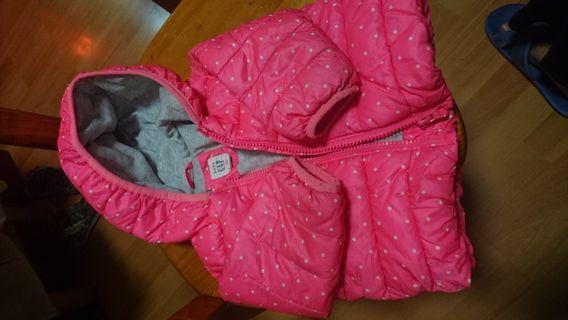 GAP baby熒光粉紅外套(6-12個月)