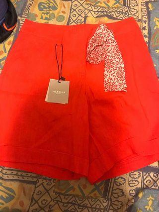 Marella 紅色短褲/裙褲