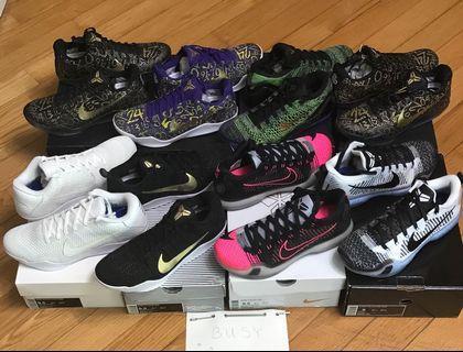 Nike Kobe iD IX X XI 9 10 11 US9 / 9.5