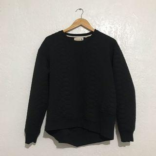 HONEY EGG DESIGN Black Crocodile Textured Sweater
