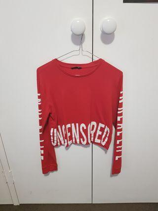 Uncensored Red Crop Long Sleeve