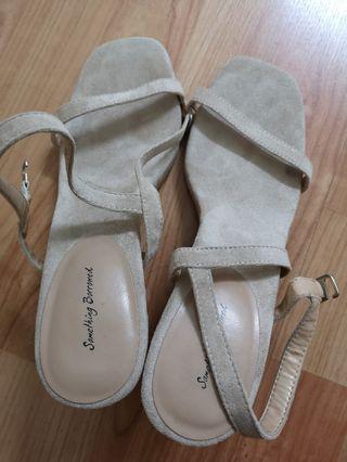 Something Borrowed Beige heels