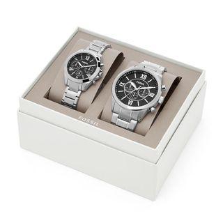 Fossil 超好看經典手錶對組 情侶組