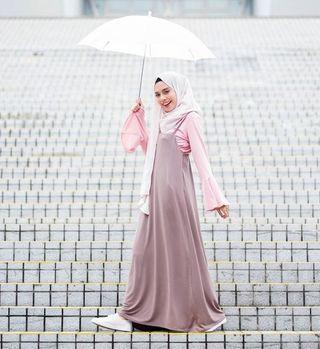 Faroshah Cami Set in Choc mauve/Nude pink #MRTSengkang