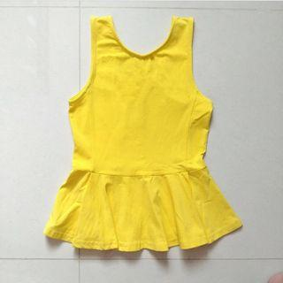 TTR basic peplum top sunshine yellow