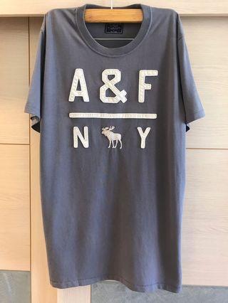 Abercrombie&Fitch A&F 短袖T恤 麋鹿(男)灰色