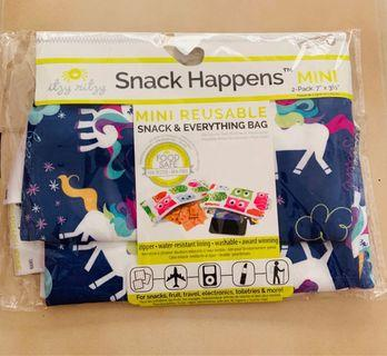 Itzy Ritzy Snack Bag Mini Unicorn Dreams (2-pack)