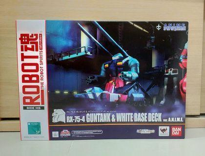 特價 日版 Robot魂 限 高達 Gundam 太空坦空 Rx-75-4 Guntank & White Base Deck Ver. A.n.i.m.e