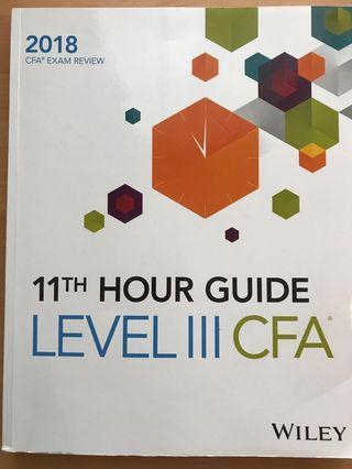 CFA Level 3 11th hour study guide