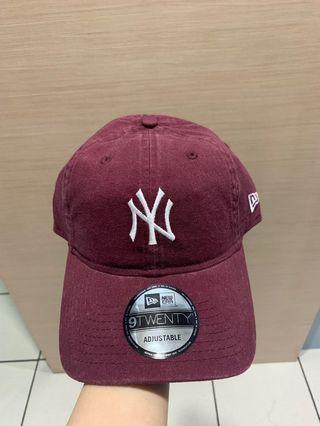 🚚 #便宜出清⚠️#New Era棗紅色水洗棒球帽